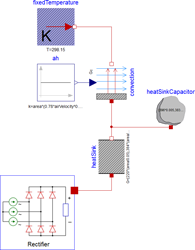 Example electrical circuit using the new rectifier model