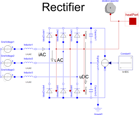 Rectifier with optional thermal effects