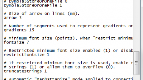 Changing the default font size in Dymola