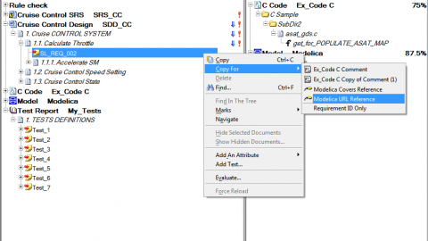 New in Reqtify 2012-2a – Modelica Code Interface