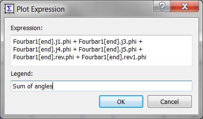 Plot Expression dialog box