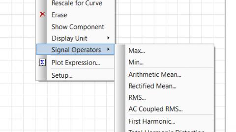 Adding signal operations to plots
