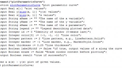 Plotting parametric curves