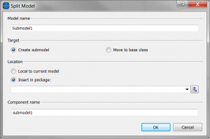 "Dialog box ""submodel"""