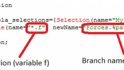 Selection of variables to be saved in the result file