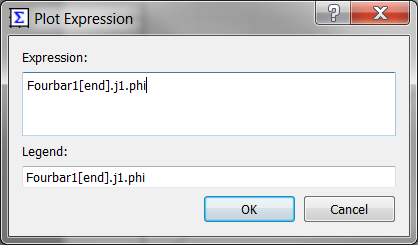 Dialog box for Plot Expression