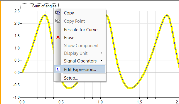 Edit Expression selection