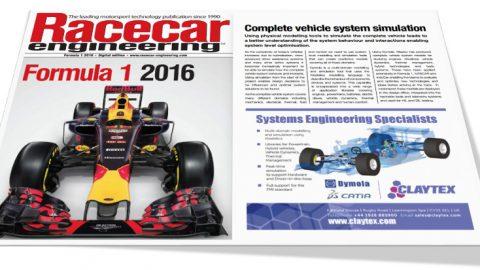 Claytex Featured in the Racecar Engineering Formula 1 2016 Digital Magazine