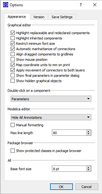 Figure 3 _ Options menu