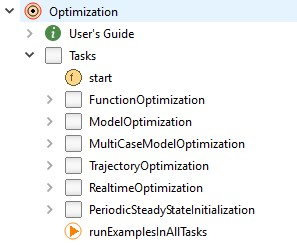 Figure 12 - Optimization tasks in the Optimization library.