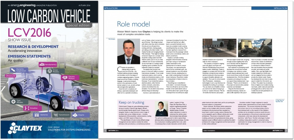Energy Engineering Magazine - Claytex help their clients to make the most of complex simulation tools