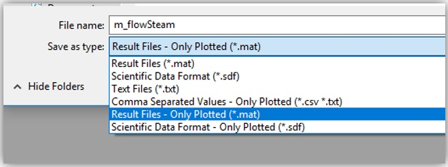 Exporting results to a  mat file to use them as inputs in