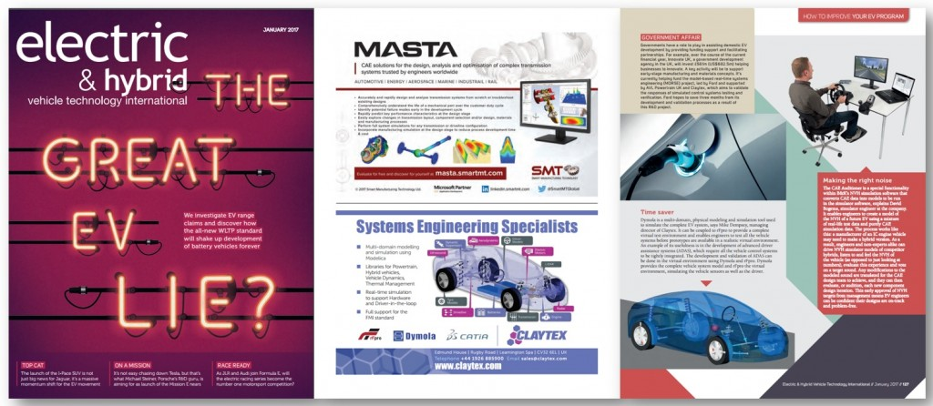 Claytex Featured in the Electric & Hybrid Vehicle Technology International -  Time saver