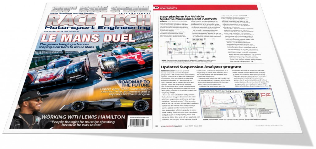 Claytex featured in the Race Tech Magazine's 200th Issue Special