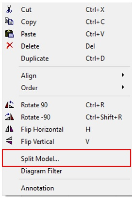 How to easily split models and create submodels in Dymola