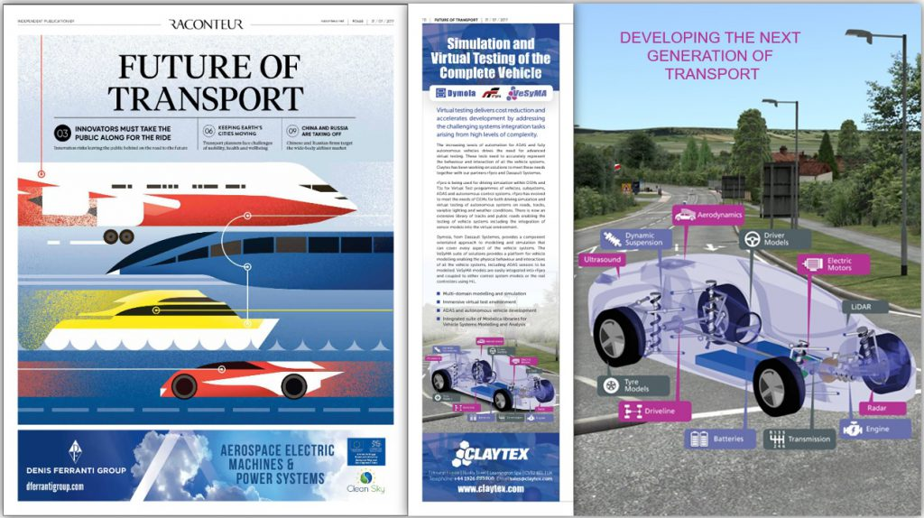 Claytex Featured: Raconteur, Future of Transport - The Times, 31st July 2017
