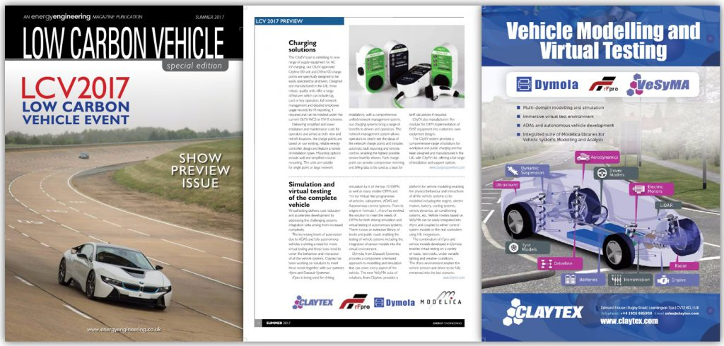 Energy Engineering Magazine Feature Claytex - LCV2017 Show Preview