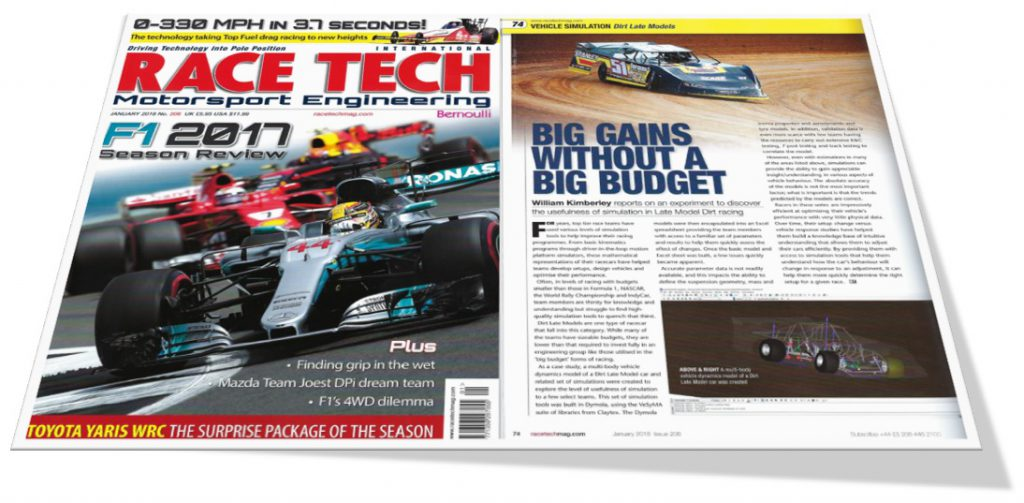 Race Tech Magazine Feature Claytex - Late Model Dirt Racing