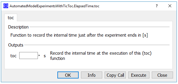 Dialog box of a simple 'toc' function