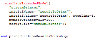 As the stream printer is a model it has to be called as one.