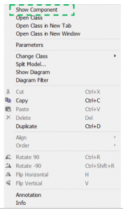 Figure 2-Object right-click dialog box