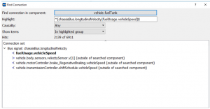 Figure 6- Pop-up window appeared by clicking on the Find Connection option shown in Figure 5.