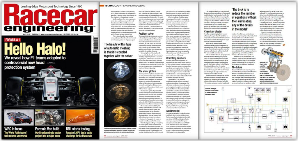 Race Tech Magazine Feature Claytex - Engine Modelling