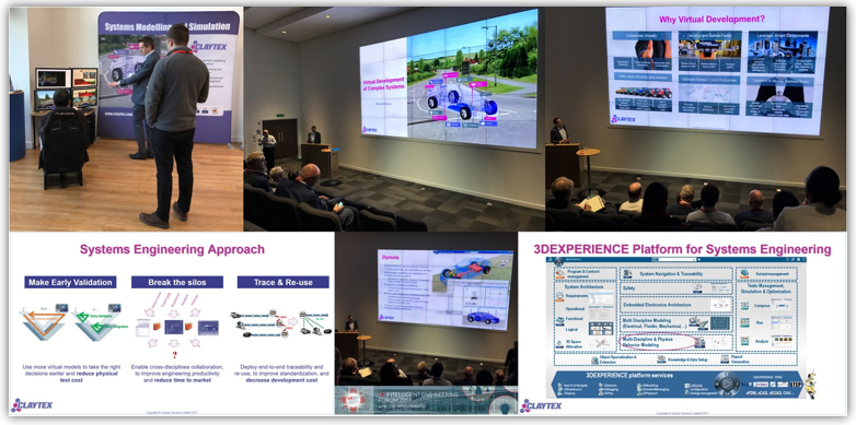 Claytex presented at UKIEF 2017: Virtual Development of Complex Systems