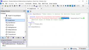 Figure6– Modelica Text layer of MSL AngleSensor.