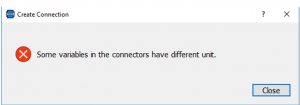 Figure 10 – Error message appeared when attempted to connect two causal connectors.