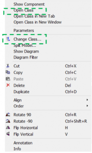 Figure 4 – Object right-click dialog box.