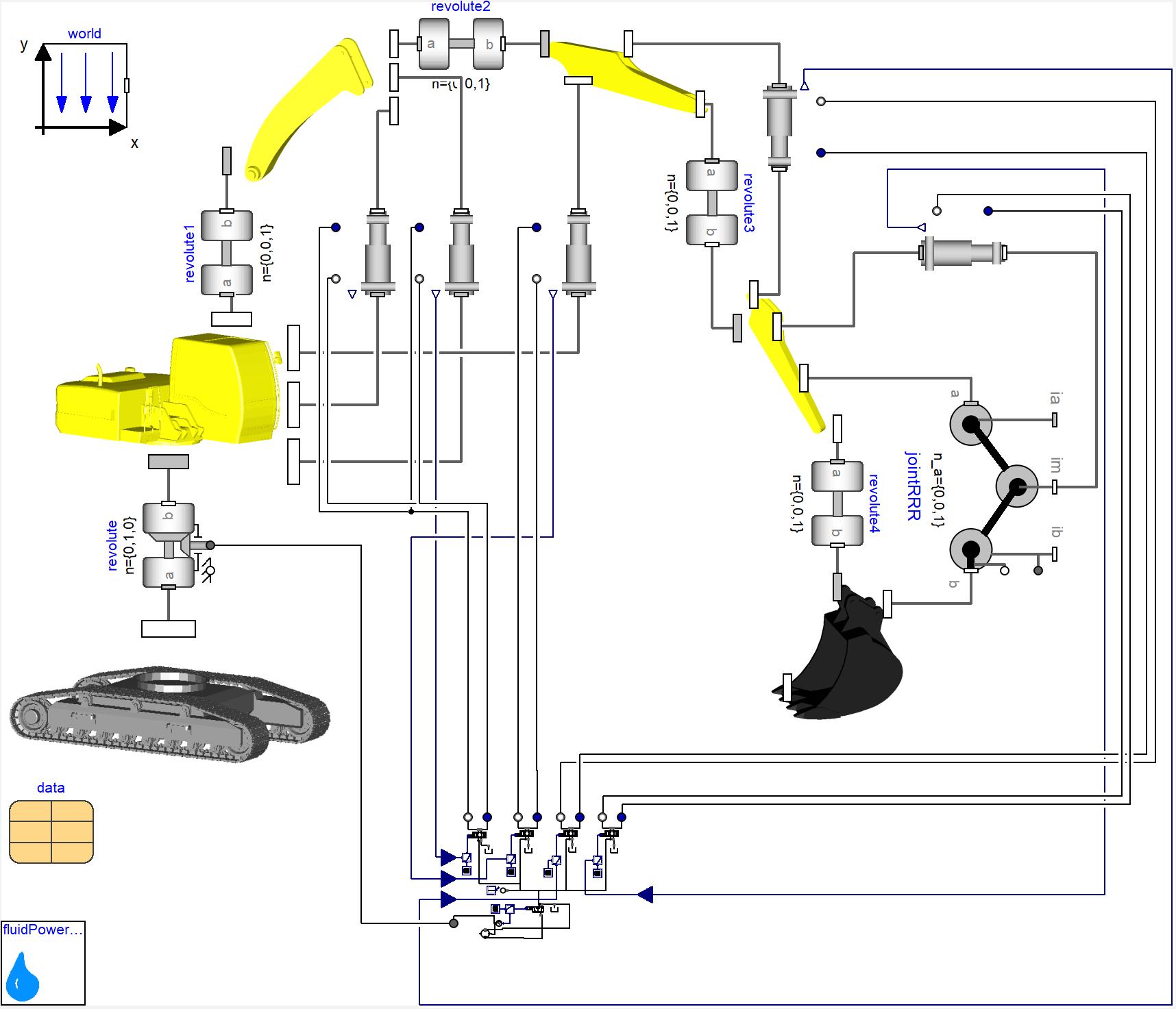 Fluid Power Library Claytex Excavator Schematic 123