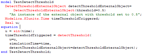 Figure 7. An example that detects a threshold being exceeded