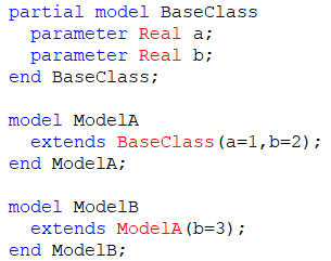 Figure 1.  Example of a model extended from another model