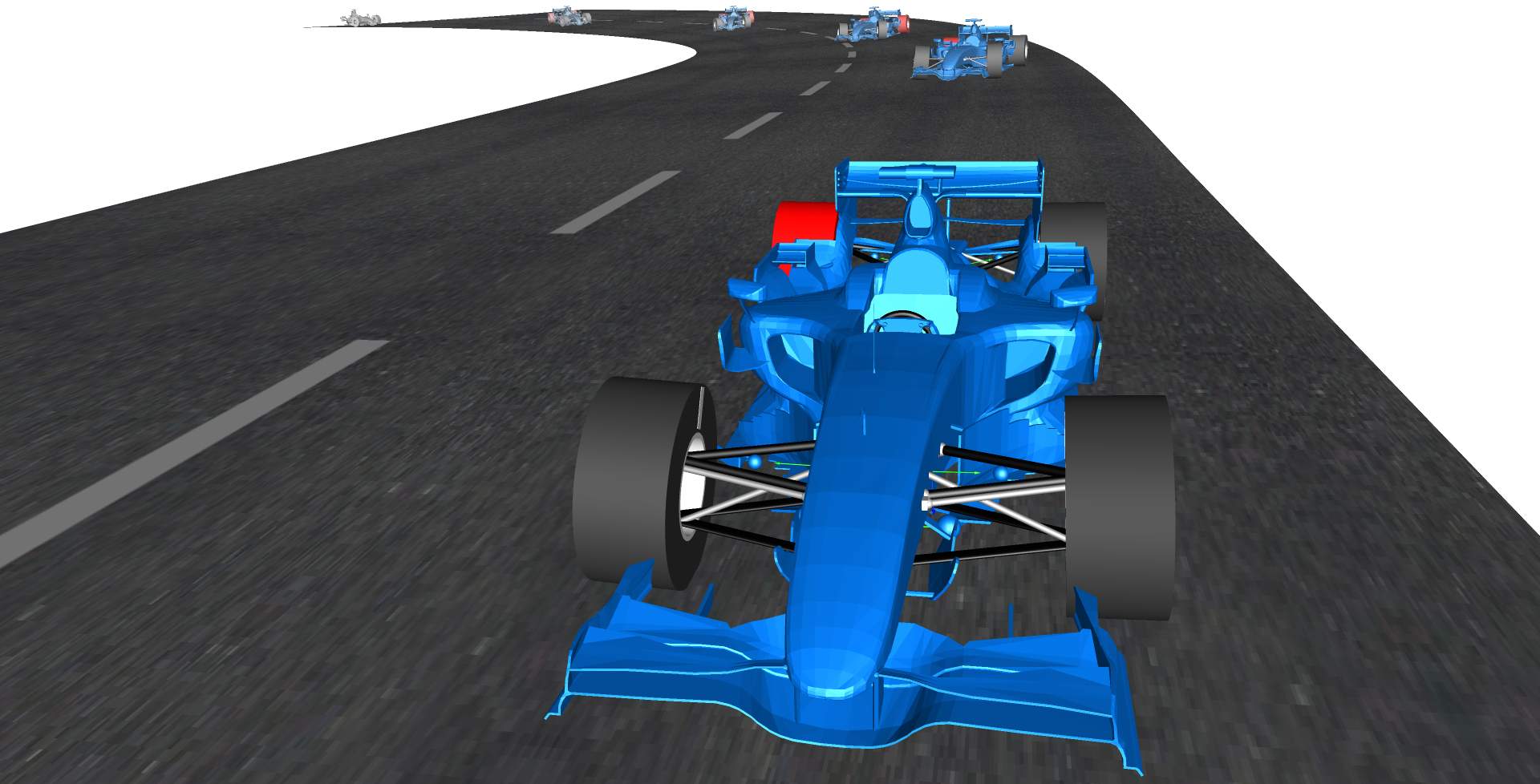 Animation of a Formula 1 vehicle model created using VeSyMA - Motorsports
