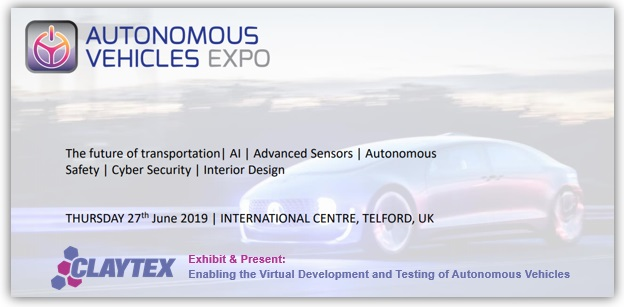 Autonomous Vehicle Expo - 27th June 2019 - Telford