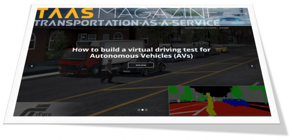 TaaS Technology Feature Claytex - How to build a virtual driving test for Autonomous Vehicles