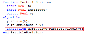 Figure 4. Adding the derivative annotation.