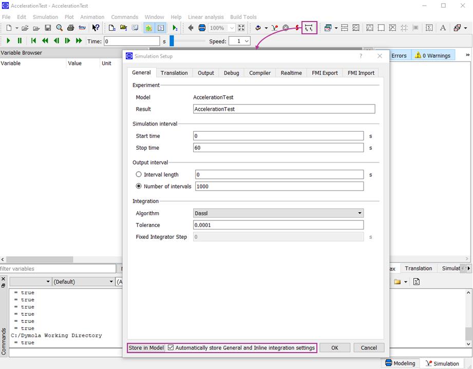 Simulation Setup GUI