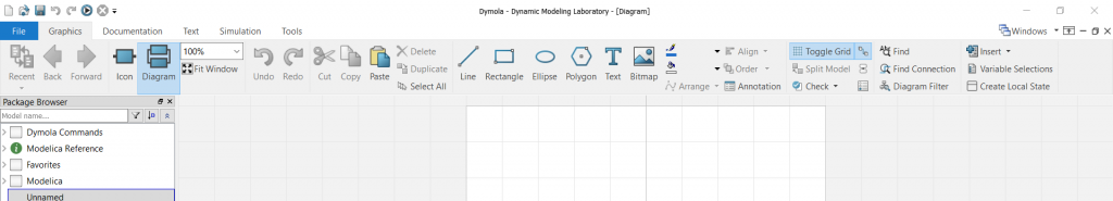 Figure 1: Dymola 2020x features an all-new ribbon driven user experience.