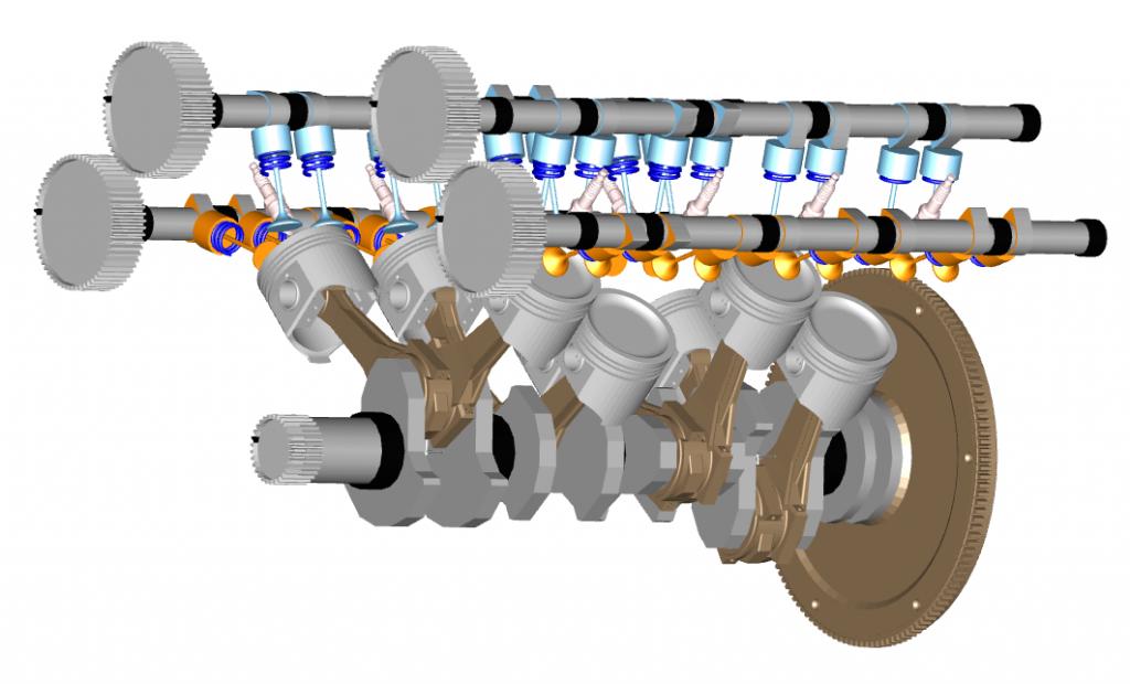 Figure 2. Cross-plane crankshaft experiment
