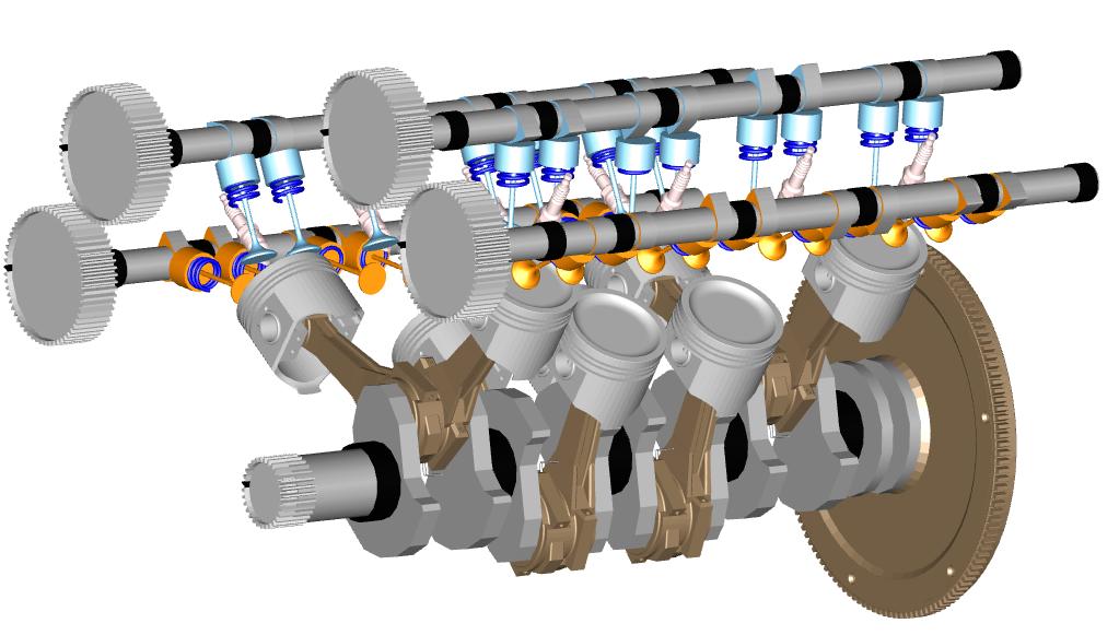 Figure 3. Flat-plane crankshaft experiment