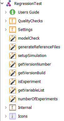 Figure 1: RegressionTest library and contents.