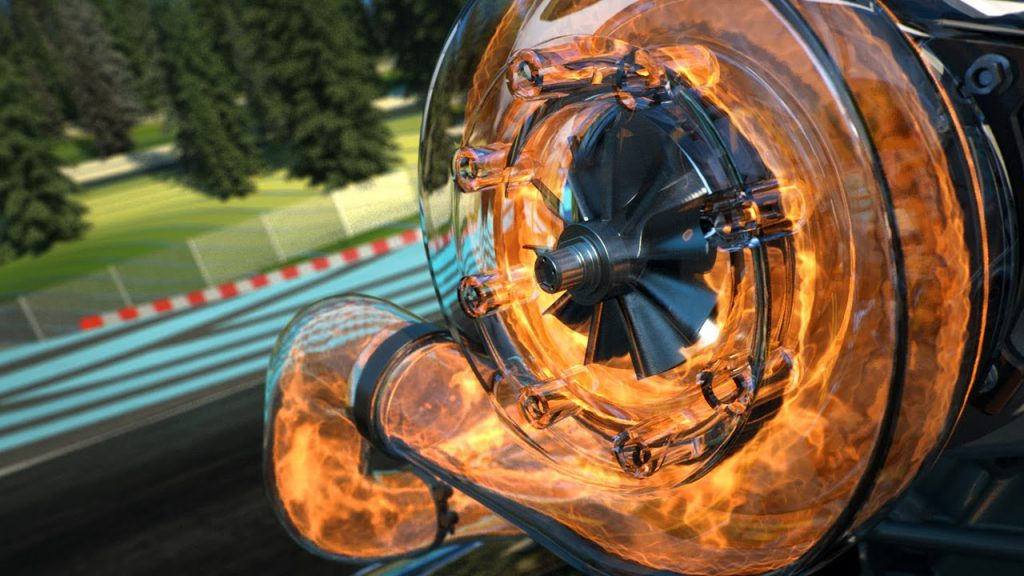 Figure 1. Turbocharger in action (Red Bull F1, 2014)