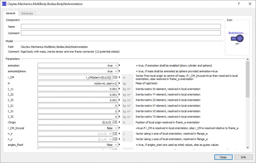 Figure 2: Unorganised Parameter Dialog Box