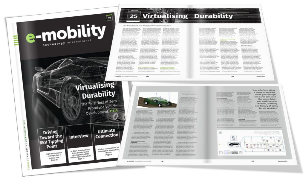 e-mobility technology international feature Claytex - Virtualising Durability