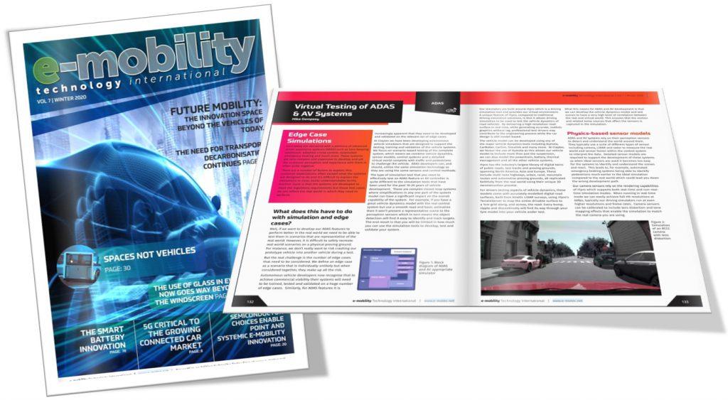 e-mobility technology international feature Claytex - Virtual Testing of ADAS & AV Systems