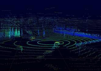Figure 1: Lidar data points in an urban environment