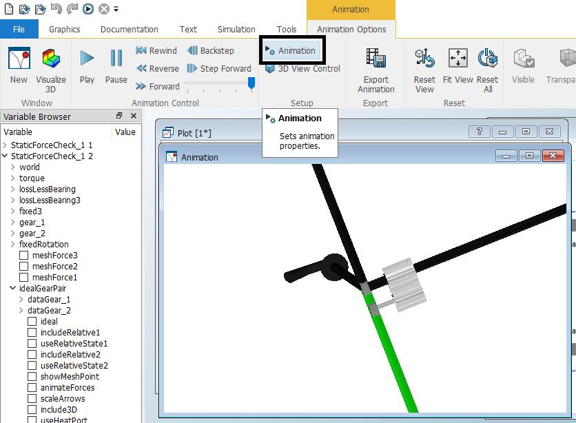 Figure 3.  Location of the animation setup.