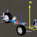 VeSyMA vehicle origin and coordinate system highlighted in yellow